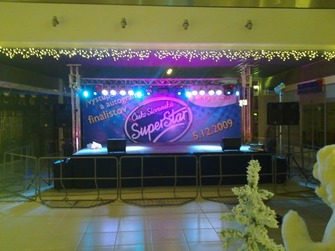 prenájom pódia Superstar,Pro Sound & Lighting - Stage Sound & Lighting Rental